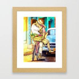 Cuba Kiss Framed Art Print