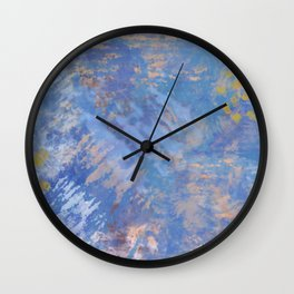 Blue Action Abstract Wall Clock