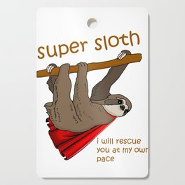 Funny Cute Sloth Superhero graphic Cutting Board