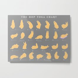 The Hop Yoga Chart Metal Print