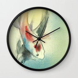 Koi Carp Fish Illustration Wall Clock