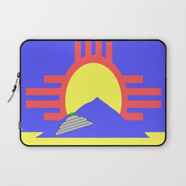 flag of Roswell with flying saucer Laptop Sleeve