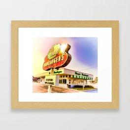 """Burger Dreams"" Framed Art Print"