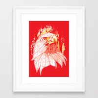 eagle Framed Art Prints featuring Eagle by KUI29
