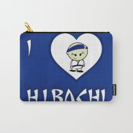 I Luv Hibachi Blue Carry-All Pouch