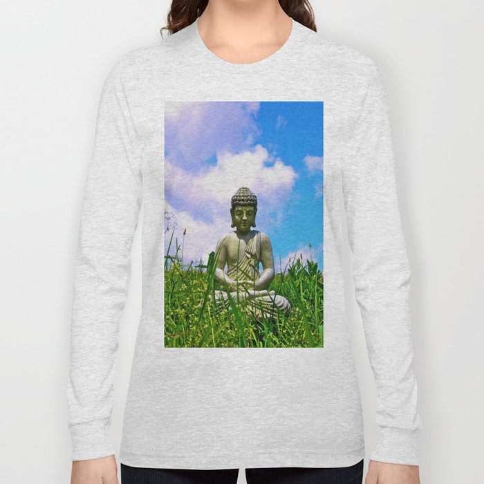 Buddha Takes the Field Long Sleeve T-shirt