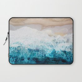 Watercolour Summer beach III Laptop Sleeve