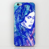 princess leia iPhone & iPod Skins featuring Princess Leia by grapeloverarts