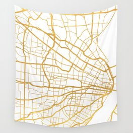 ST. LOUIS MISSOURI CITY STREET MAP ART Wall Tapestry