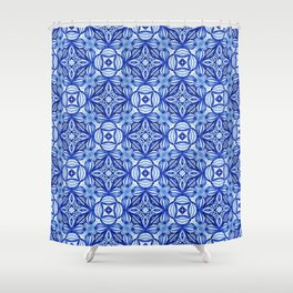 For the Love of Blue - Pattern 372 Shower Curtain