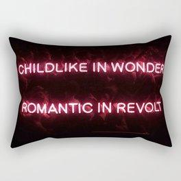 Childlike in Wonder / Romantic in Revolt Rectangular Pillow