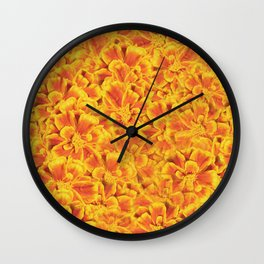 Orange Blooms Wall Clock
