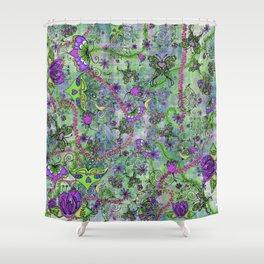 Pretty Retro Forest Creatures Shower Curtain