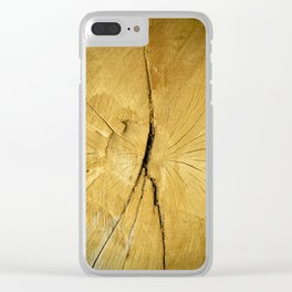 Oak Wood Clear iPhone Case