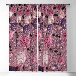 Pink Fractal Blackout Curtain