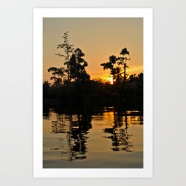 Sunset in Borneo Art Print
