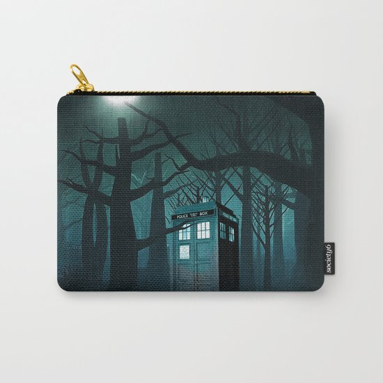 Tardis in the Forest of The Night Carry-All Pouch