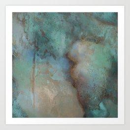 Turquoise Crystal Stone Art Print