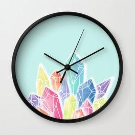 Crystals Green Wall Clock