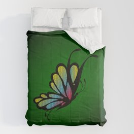 Mosaic Butterfly on Emerald Green Comforters