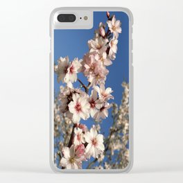 Almond blossom on the tree Clear iPhone Case