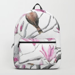 magnolia flowers and birds Backpack
