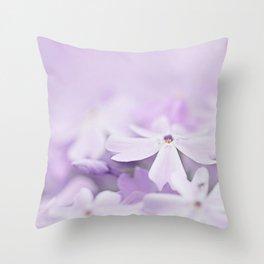 Purple Phlox Throw Pillow