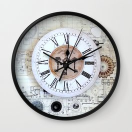 Technical Sketches Clock Wall Clock