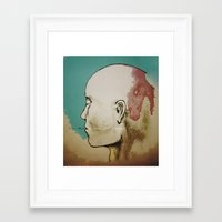 human Framed Art Prints featuring Human by Tyler Hayes