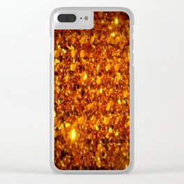 Copper Sparkle Clear iPhone Case