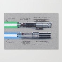 Skywalker Lightsabers Canvas Print