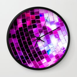 Purple Disco Ball Wall Clock
