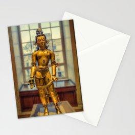Golden Figurine Stationery Cards