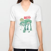dead V-neck T-shirts featuring Walker's Dead by Victor Vercesi