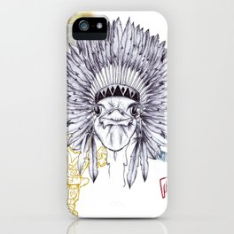 Red Indian Ostrich iPhone Case