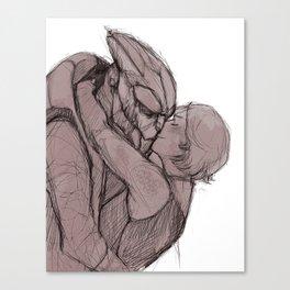 that strange tango scene Canvas Print