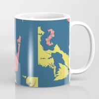 camo Mugs featuring Bright Camo by lalaprints