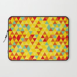 Colored triangles Laptop Sleeve