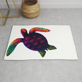 Turtle Magenta jGibney The MUSEUM Society6 Rug