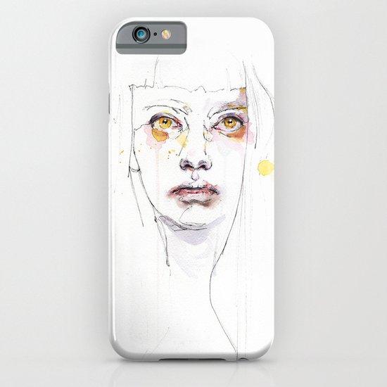 Golden eyes girl iPhone & iPod Case