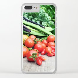 Vegetable garden Clear iPhone Case