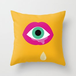Eye am drooling for you Throw Pillow