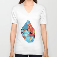 peace V-neck T-shirts featuring inner peace by contemporary