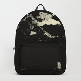 Black Marble and Blush Yellow #1 #decor #art #society6 Backpack