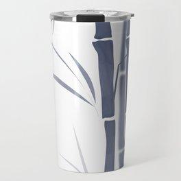 Bamboo . Blue and white . Travel Mug