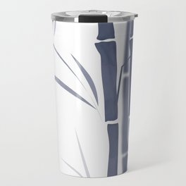 Bamboo . Blue and white . Travel Mug