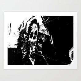 Laneway Skull Art Print