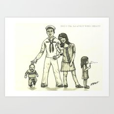 Military Family Art Print