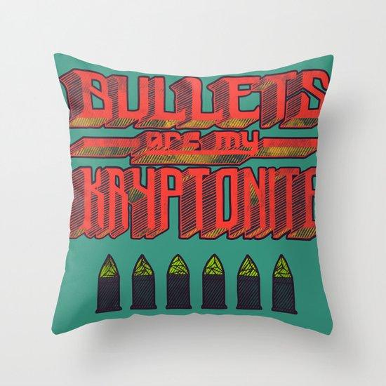 Kryptonite (alternate) Throw Pillow