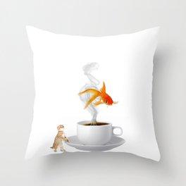 Big Dreams Require Caffeine Throw Pillow